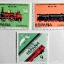Sellos: ESPAÑA. 2670/72 CONGRESO DE FERROCARRILES. 1982. SELLOS NUEVOS Y NUMERACIÓN EDIFIL. Lote 160929046