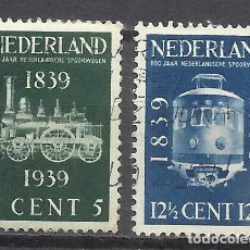 Sellos: 203B- HOLANDA NEDERLAND PAISES BAJOS TRENES FERROCARRIL RAIL WAY SERIE COMPLETA 1939 Nº325/6 YVERT . Lote 161701254