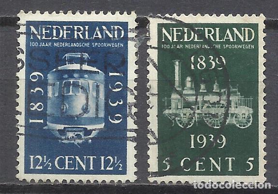 203C- HOLANDA NEDERLAND PAISES BAJOS TRENES FERROCARRIL RAIL WAY SERIE COMPLETA 1939 Nº325/6 YVERT (Sellos - Temáticas - Trenes y Tranvias)