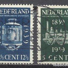 Sellos: 203C- HOLANDA NEDERLAND PAISES BAJOS TRENES FERROCARRIL RAIL WAY SERIE COMPLETA 1939 Nº325/6 YVERT . Lote 161701326