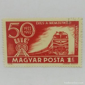 Magyar Posta 50 aniversario 1Ft