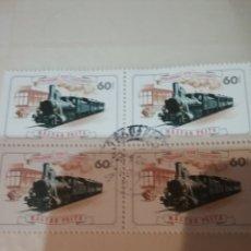 Sellos: SELLOS HUNGRIA (MAGYAR P) MTDOS/1976/I CENT. LINEA FERROVIARIA/ESTACIONES/TRENES/LOCOMOTORA/AUTORRAI. Lote 171071580