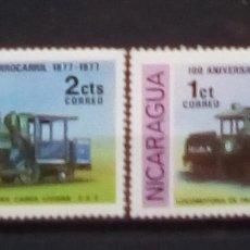 Sellos: TRENES SERIE DE SELLOS NUEVOS DE NICARAGUA. Lote 171440298