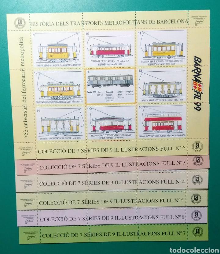 Sellos: 1999. 7 Hojas. Barnafil. Història dels Transports. - Foto 2 - 171711847
