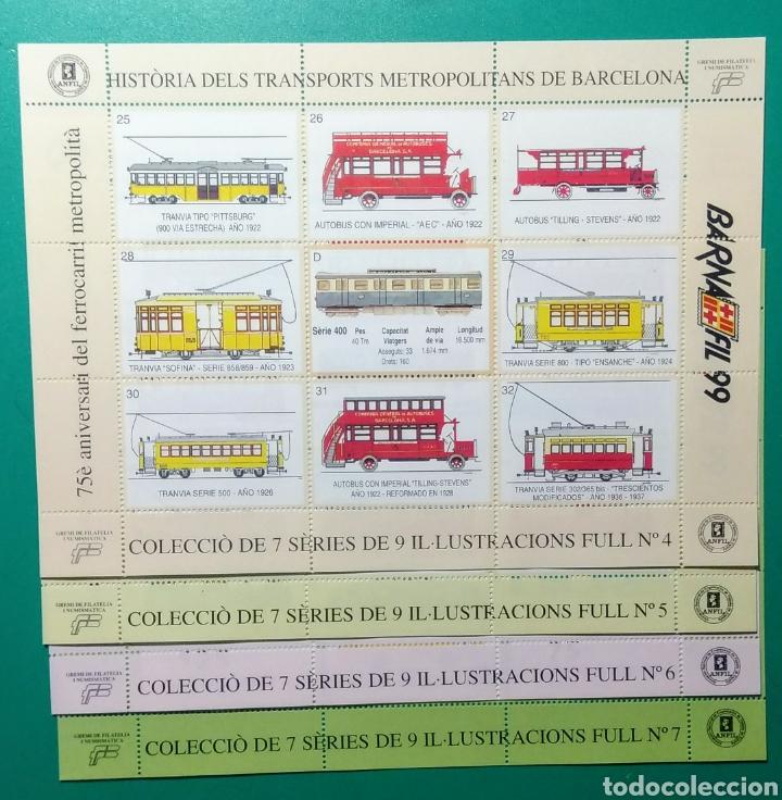 Sellos: 1999. 7 Hojas. Barnafil. Història dels Transports. - Foto 4 - 171711847