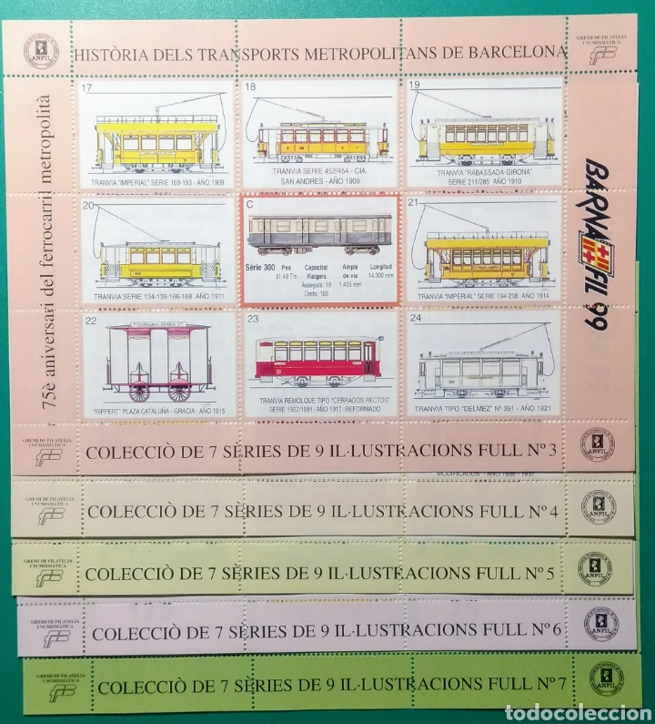 Sellos: 1999. 7 Hojas. Barnafil. Història dels Transports. - Foto 3 - 171711847