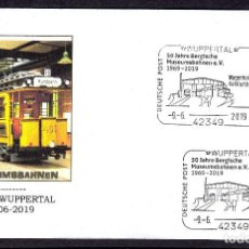 Sellos: ALEMANIA 2019 MATASELLO ESPECIAL - TRANVIA - MUSEO DEL TRANVIA DE WUPPERTAL. Lote 171828933