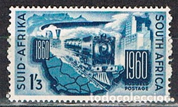 AFRICA DEL SUR Nº 274, CENTENARIO DEL FERROCARRIL EN AFRICA DEL SUR, NUEVO *** (Sellos - Temáticas - Trenes y Tranvias)