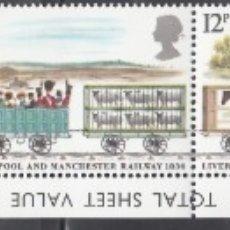 Timbres: GRAN BRETAÑA , 1980 YVERT Nº 926 / 930 /**/, TRENES, LOCOMOTORAS ANTIGUAS. . Lote 173524170