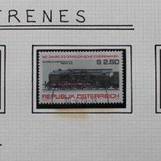 Sellos: 3 SELLOS TRENES DE AUSTRIA 1977. Lote 174249287