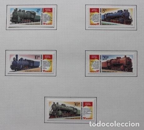 5 SELLOS NUEVOS DE LA UNION SOVIETICA (URSS) 1986. RUSIA. (Sellos - Temáticas - Trenes y Tranvias)