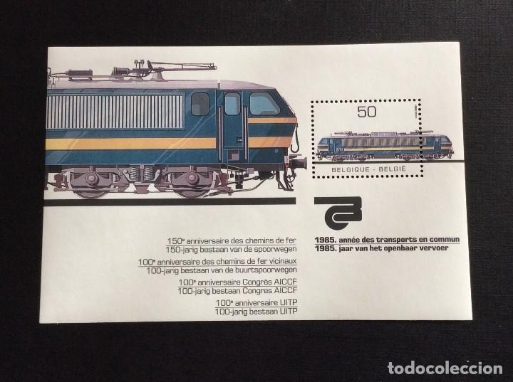 BELGICA Nº YVERT HB 61*** AÑO 1985. LOCOMOTORA ELECTRICA (Sellos - Temáticas - Trenes y Tranvias)