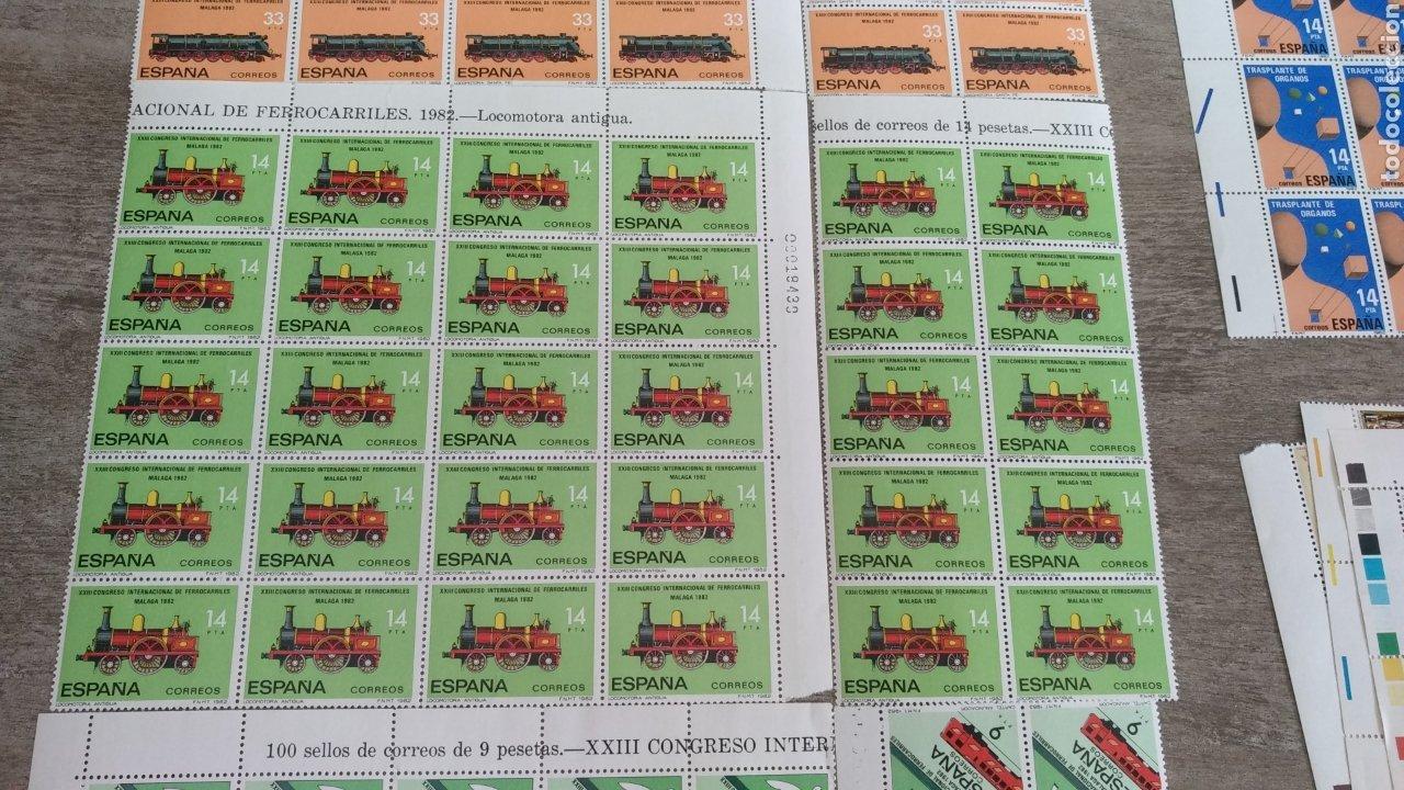 Sellos: Sellos XIII Congreso Internacional de Ferrocarriles Málaga 82. 30 de 33 pts, 30 de 14 y 35 de 9 pts - Foto 3 - 178663047