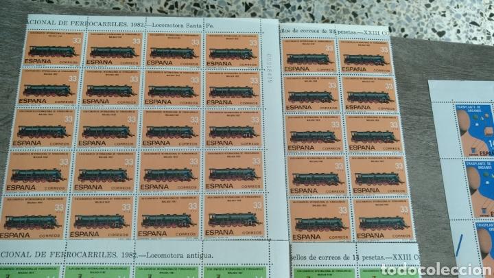 Sellos: Sellos XIII Congreso Internacional de Ferrocarriles Málaga 82. 30 de 33 pts, 30 de 14 y 35 de 9 pts - Foto 4 - 178663047