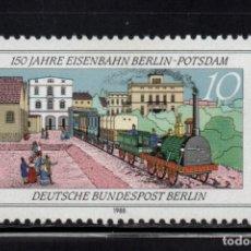 Sellos: BERLIN 783** - AÑO 1988 - TRENES - 150º ANIVERSARIO DE LA LINEA DE FERROCARRIL BERLIN - POTSDAM. Lote 178789157