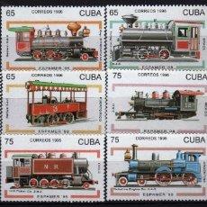Sellos: GIROEXLIBRIS. CUBA.- ESPAMER'96 BONITA SERIE DE 10 SELLOS DE FERROCARRIL - SELLOS NUEVOS. Lote 179961592