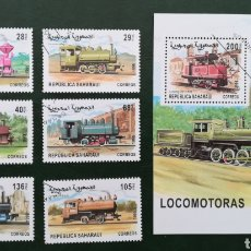 Sellos: SAHARA OCCIDENTAL REPUBLICA SAHARAUI 1999 LOCOMOTORAS. Lote 183267178