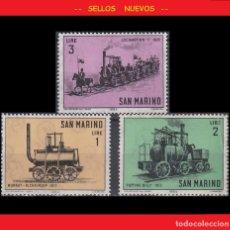 Sellos: LOTE SELLOS NUEVOS - SAN MARINO - TRENES - LOCOMOTORAS - AHORRA GASTOS COMPRA MAS SELLOS. Lote 191654733