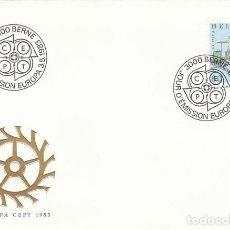 Sellos: SUIZA IVERT 1179, LOCOMOTORA DEL PRIMER FERROCARRIL DE CREMALLERA (EUROPA 1983), PRIMER DIA 3-5-1983. Lote 193091245