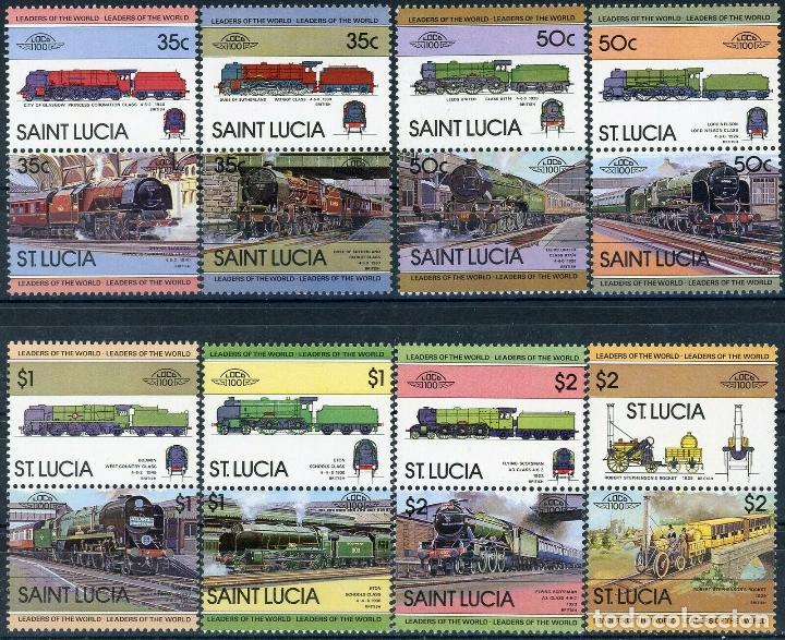 SANTA LUCIA 1983 IVERT 598/613 *** LOCOMOTORAS (I) - TRENES ANTIGUOS (Sellos - Temáticas - Trenes y Tranvias)