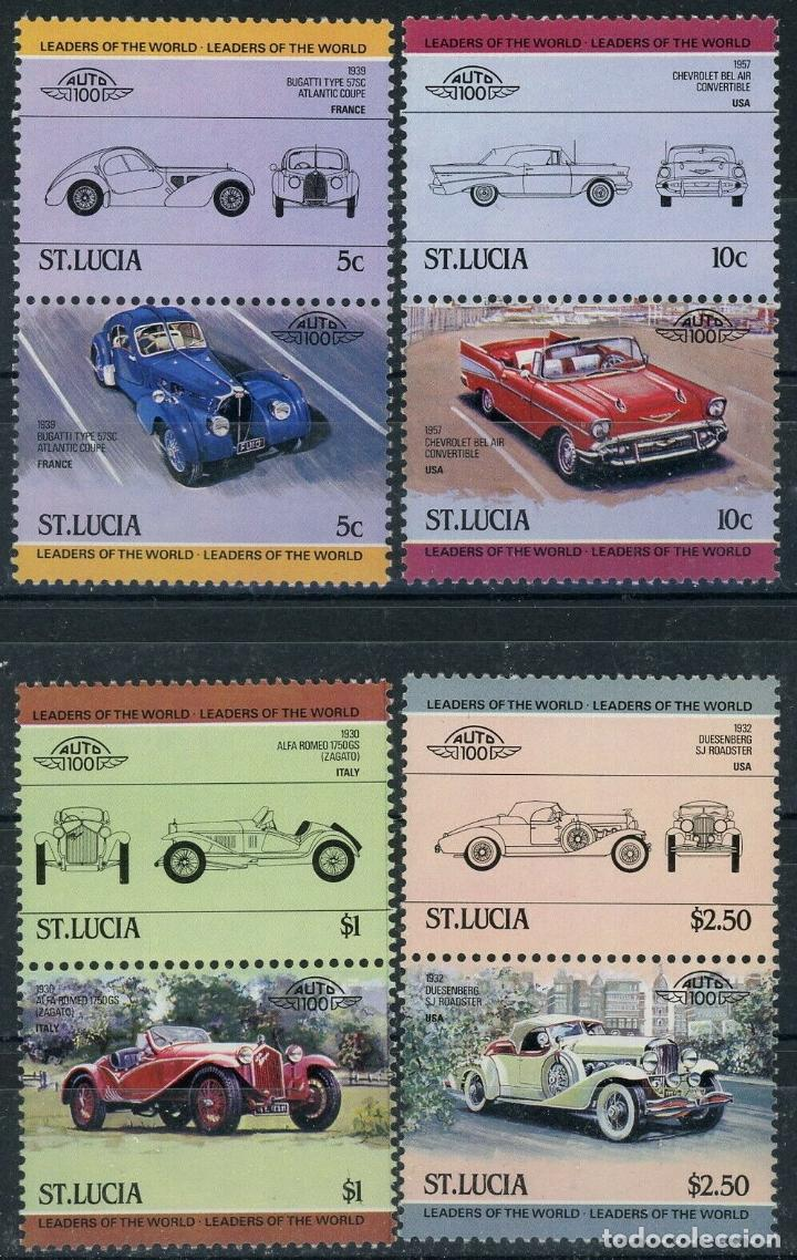 SANTA LUCIA 1984 IVERT 644/51 *** AUTOMOVILES (I) - COCHES ANTIGUOS (Sellos - Temáticas - Trenes y Tranvias)