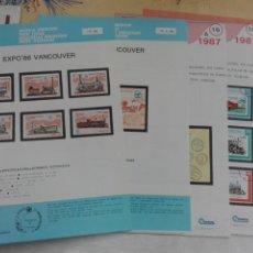 Sellos: FILATELIA CUBA - HOJAS NUEVAS EMISIONES - FERROCARRIL TRENES. Lote 197118056