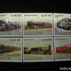Sellos: MOZAMBIQUE 2009 MICHEL 3095/10 *** HISTORIA DEL TRANSPORTE - TRENES ANTIGUOS. Lote 198329305