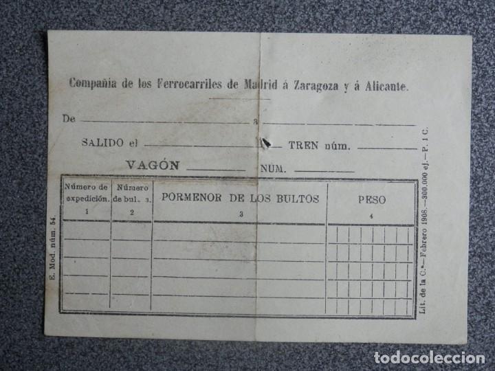 Sellos: PEQUEÑO DOCUMENTO CON SELLO DE LA ESTACIÓN DE LA ENCINA EN SALAMANCA ENVÍO A VALENCIA - Foto 2 - 198617540