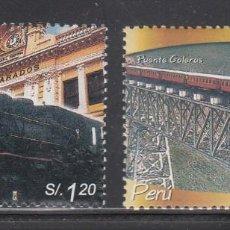 Sellos: PERU 2004 - TRENES - YVERT Nº 1374/1375**. Lote 198897112