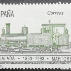 Sellos: 1993. ESPAÑA. 3265. 100 AÑOS DEL FERROCARRIL IGUALADA-MARTORELL. SERIE COMPLETA. NUEVO.. Lote 201860141
