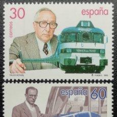 Sellos: 1995. ESPAÑA. 3347 / 3348. TALGO. CENTENARIO NACIMIENTO ALEJANDRO GOICOECHEA. SERIE COMPLETA. NUEVO.. Lote 201992302