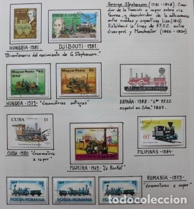LOTE 11 SELLOS LOCOMOTORAS ANTIGUAS DE VAPOR (Sellos - Temáticas - Trenes y Tranvias)