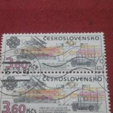 Sellos: SELLOS R. CHECOSLOVAQUIA MTDOS/1983/COMUNICACIONES/TRENES/LOCOMOTORA/COCHES/CAMION/TRASPORTE/CORREOS. Lote 204204207