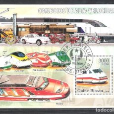 Sellos: GUINEA BISAU H.B. Nº 305º TREN DE ALTA VELOCIDAD. Lote 204466073