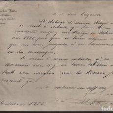Sellos: ALMANSA.- ABOGADO DE LOS CAMINOS DE HIERRO DEL NORTE DE ESPAÑA. AÑO 1922. VER FOTO. Lote 205098598