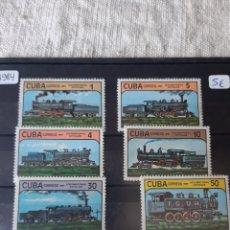 Sellos: CUBA TRENES TRAMPORTE SERIE COMPLETA PERFECTA AÑO 1984. Lote 205383401