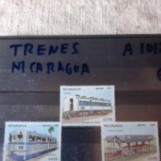 Sellos: NICARAGUA TRENES SERIE COMPLETA NUEVA A 1012/14. Lote 205526757