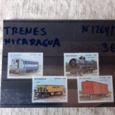 Sellos: NICARAGUA TRENES SERIE COMPLETA NUEVA 1264/67. Lote 205527005