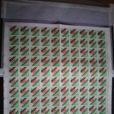 Sellos: PLIEGO 100 SELLOS DE CORREOS DE 9 PESETAS. Lote 207271901
