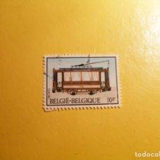 Sellos: BÉLGICA 1983 - TRENES, LOCOMOTORAS - TRANVÍA.. Lote 207360820