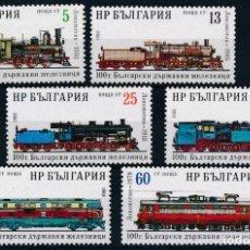 Sellos: BULGARIA 1988 IVERT 3149/54 *** CENTENARIO DE LOS FERROCARRILES BULGAROS - TRENES. Lote 208669141