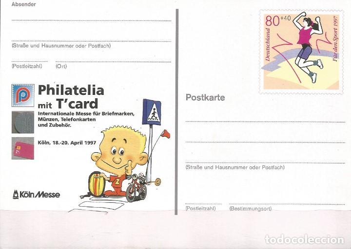 ALEMANIA FEDERAL 1997. TARJETA POSTAL, NUEVA. SELLO Nº 1730 CATÁLOGO YVERT (Sellos - Temáticas - Trenes y Tranvias)
