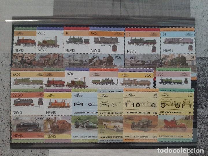 SELLOS TRENES NUEVOS NEVIS (Sellos - Temáticas - Trenes y Tranvias)