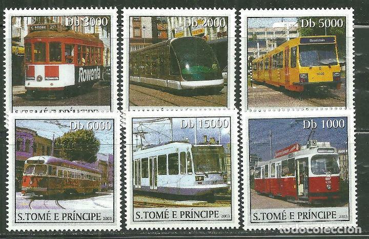 SANTO TOME & PRINCIPE 2003 IVERT 1554/9 *** TRENES - LOCOMOTORAS ELÉCTRICAS (Sellos - Temáticas - Trenes y Tranvias)