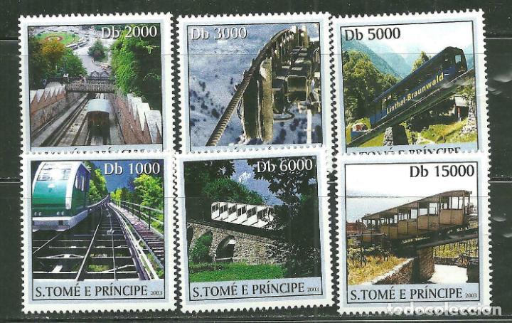 SANTO TOME & PRINCIPE 2003 IVERT 1560/5 *** TRENES (Sellos - Temáticas - Trenes y Tranvias)