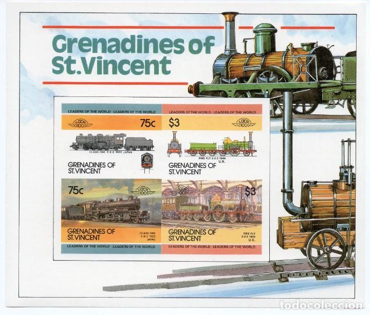 ST. VINCENT GRENADINES/1985/MNH/SC#345A/ LOCOMOTORAS/ TRENES A VAPOR / IMPERF (Sellos - Temáticas - Trenes y Tranvias)