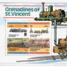 Sellos: ST. VINCENT GRENADINES/1985/MNH/SC#345A/ LOCOMOTORAS/ TRENES A VAPOR / IMPERF. Lote 215578291
