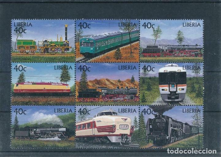 LIBERIA 1999 IVERT 2017/25 *** TRENES - LOCOMOTORAS (II) (Sellos - Temáticas - Trenes y Tranvias)