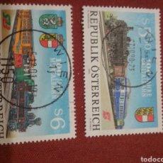 Timbres: SELLOS AUSTRIA (OSTERREICH) MTDOS/1994/100ANIV/FERROCARRIL/MURTAL/TRENES/TRASNPORTE/LOCOMOTORA/ESTAC. Lote 217337007