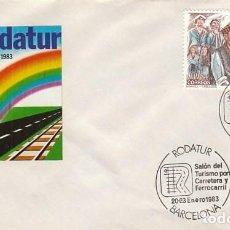 Sellos: AÑO 1983, RODATUR, SALON DEL TURISMO POR CARRETERA Y FERROCARRIL. Lote 218515556